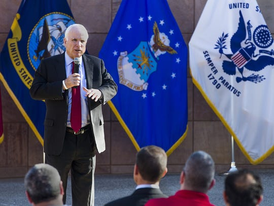 U.S. Sen. John McCain announced Friday, Nov. 13, 2015, the launch of a veterans coalition aimed to tackle the issues faced by those who serve, namely fixing issues with the VA hospital system.
