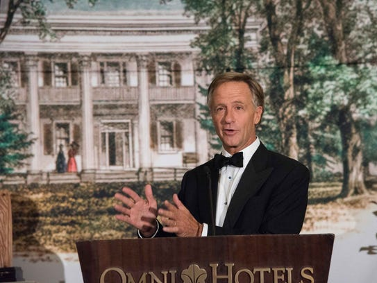 Gov. Bill Haslam speaks during the The Hermitage Gala