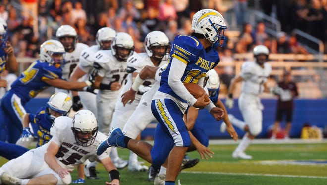 Senior Isaac Gill accounted for all four of Philo's touchdowns in a 28-17 win over John Glenn on Friday night.