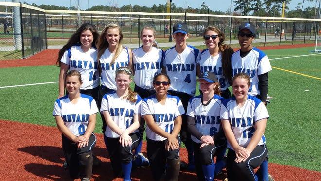 The Brevard softball team.