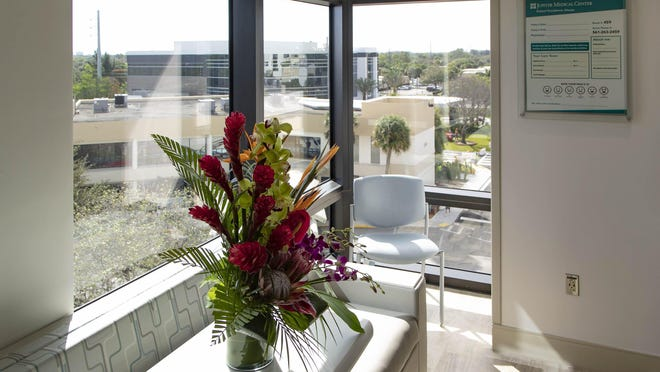 The Missy & Peter Crisp Cancer Unit for Women located in the new patient tower at the Jupiter Medical Center has 11,000 square feet, accepts women with a range of different cancers and has 12 bedded rooms.