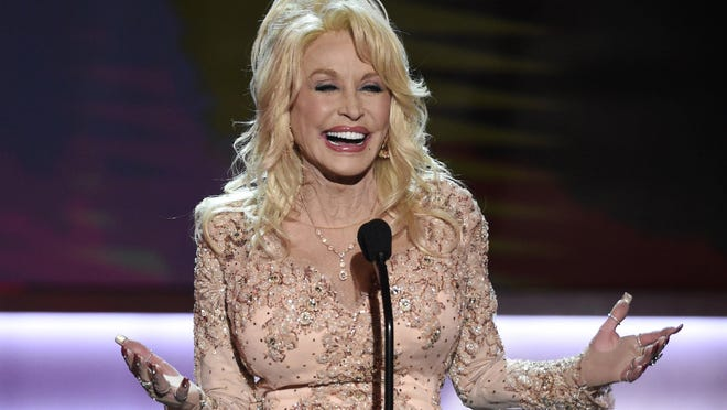 Dolly Parton, shown at the 23rd annual Screen Actors Guild Awards in 2017.