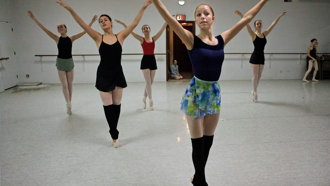 """Dancers with the Makaroff Youth Ballet rehearse for next weekend's performances of """"The Nutcracker"""" at the Fox Cities Performing Arts Center."""