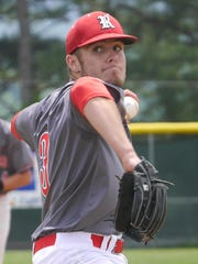 Riverheads #3, Colt Miller pitches against Luray on