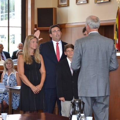 Matt Maciarello is joined his his wife Sarah and sons