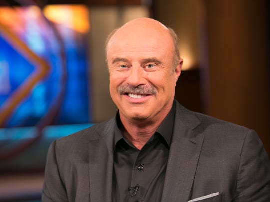 "TV's ""Dr. Phil"" McGraw on the set of his TV talk show"