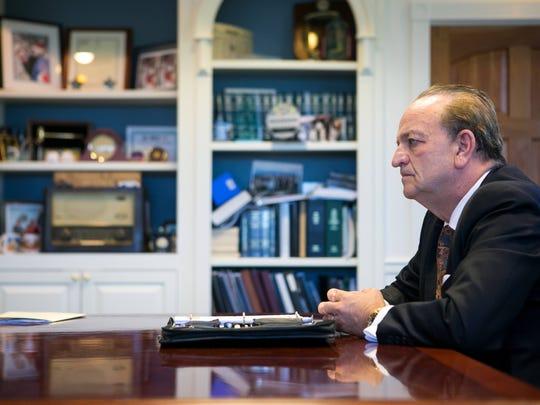 Outgoing New Castle County Executive Thomas P. Gordon.