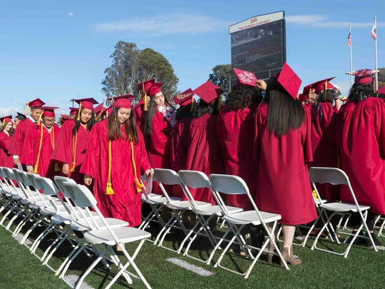 The commencement ceremony for Hartnell Community College took place at Rabobank Stadium on Friday, May 25, 2018 in Salinas, Calif.