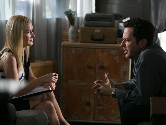 "Jonathan Silverman and Angela Kinsey star in ""Andover."""