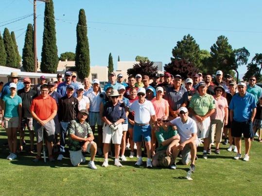 Bill Armendariz — Headlight Photo   The Knights of Columbus, St. Michael's Council 15062, raises money for its charitable activities through its annual golf scramble. This group of golfers participated in Saturday's event and were treated to 18 holes of fun at the Rio Mimbres Golf Course. The tournament generated 13 teams to help support community funds for local organizations and causes.