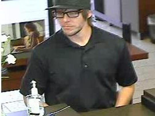 Suspected Chase bank robber.