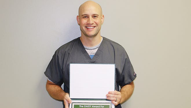 Matt Faust, RN, a nurse in the intensive care unit at McLaren Greater Lansing, was honored this month with the DAISY Award for Extraordinary Nurses.