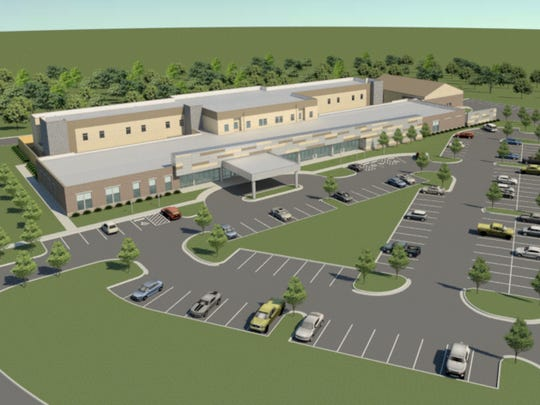 Saint Thomas Health plans to build a 76-bed mental health hospital in Nashville. This hospital is expected to be similar in design to this rendering of a related facility being built in Chattanooga.