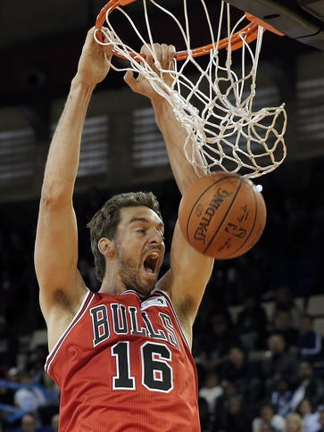NBA Team World's Spanish player Pau Gasol of the Chicago