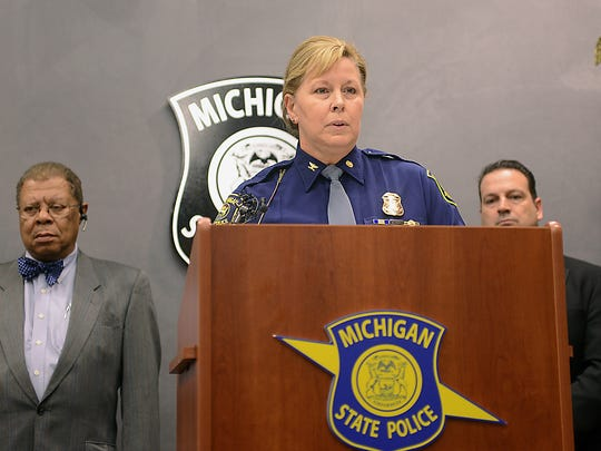 Col. Kriste Kibbey Etue, director of the Michigan State