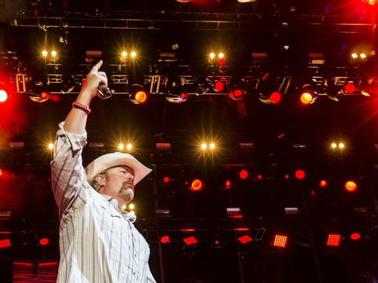 Toby Keith at the Delaware Junction Festival last year.