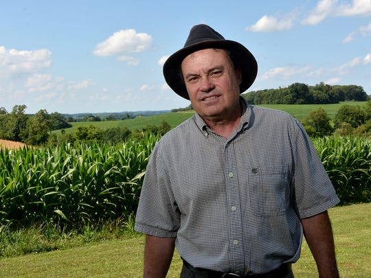 "New Park farmer Jay McGinnis is planning to fight to keep proposed electric transmission lines from ""ruining"" his farm, Thursday, July 6, 2017.  John A. Pavoncello photo"