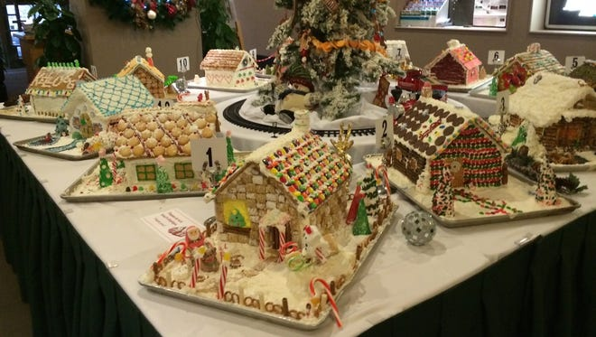 Gingerbread houses on display in the Gingerbread House Decorating Competition at the Kellogg Hotel & Conference Center.