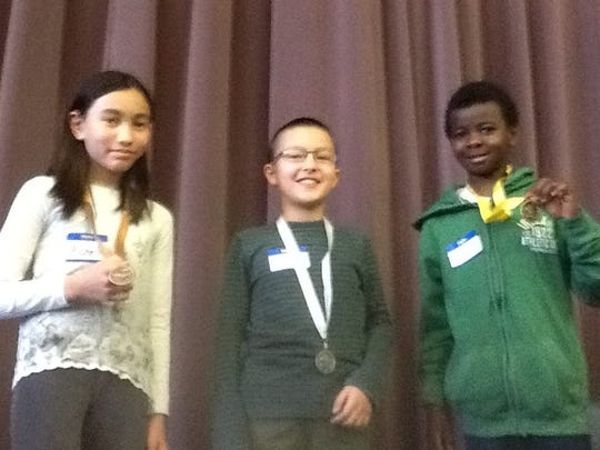 The fourth-grade spelling bee champions at Ridgewood