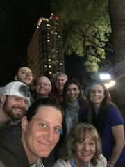 A.J. Klein takes a selfie with his family in advance of Sunday's Super Bowl 50.