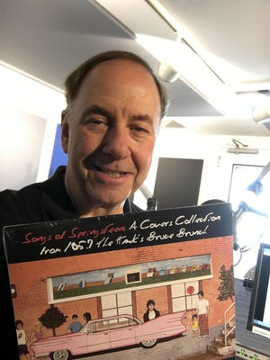 "Tom Cunningham with ""Songs Of Springsteen: A Covers Collection From 105.7 The Hawk's Bruce Brunch."""