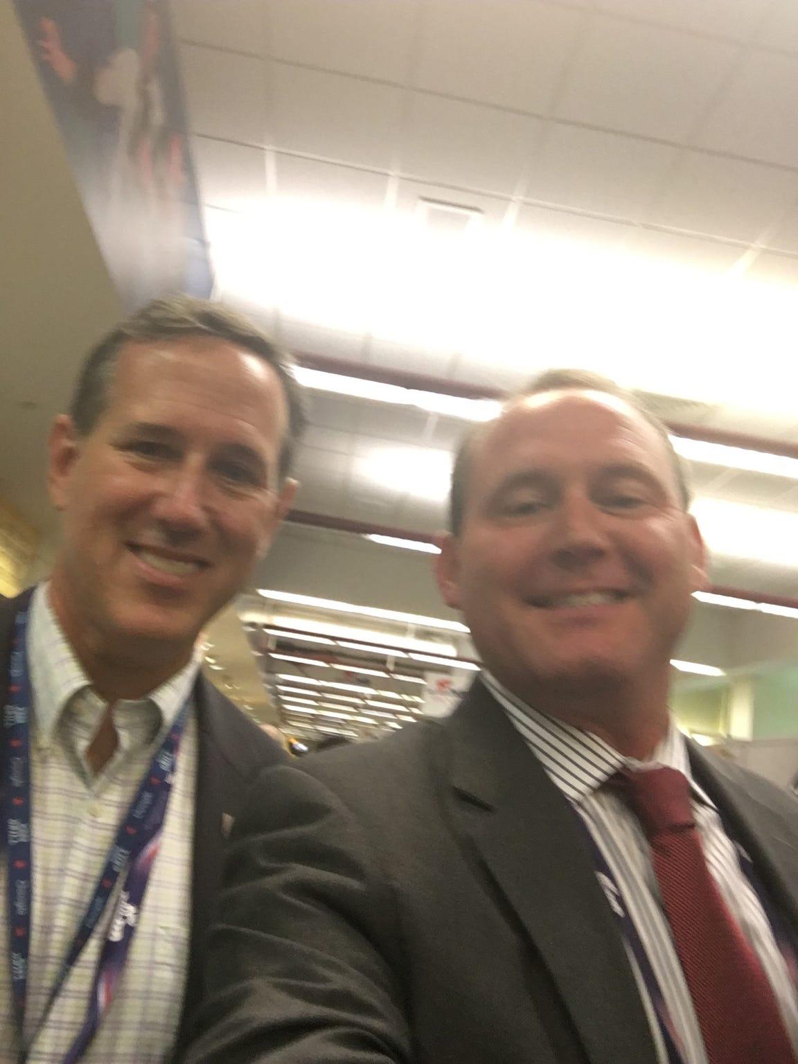 Photo op with Rick Santorum