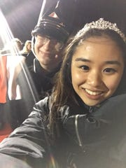 Central Kitsap High School homecoming sovereigns Ezra Grey (left) and Grace Chun.