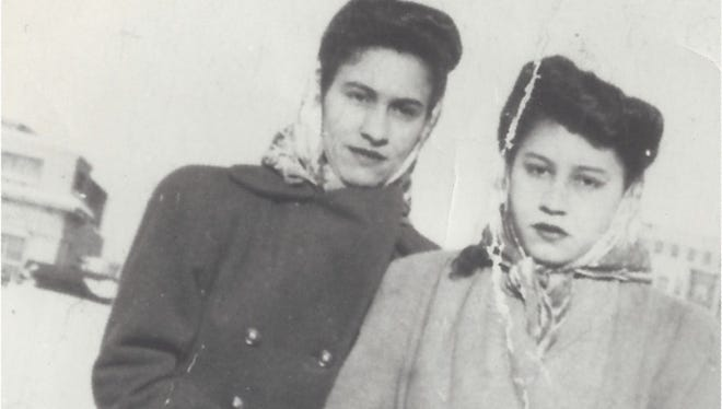 Felicita Moreno (right) and her sister Carmen in New York City the winter of 1947.