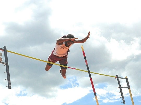 New Paltz's Dagi Tadesse won the Division II pole vault