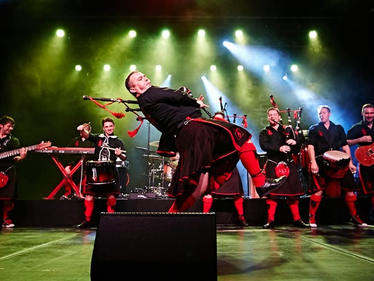 Scottish bagpipe rock act The Red Hot Chili Pipers will perform on March 16 at The Grand in Wilmington.