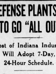 Indianapolis Star headline from Dec. 9, 1941