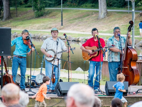 The Crooked Pine Band plays at Park Rhythms in 2015. The band will perform for the fourth straight year in the summer concert series at Lake Tomahawk on Thursday, July 5.