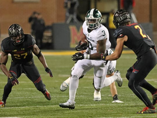 Even with running back LJ Scott, MSU ranks 66th nationally in rushing offense.