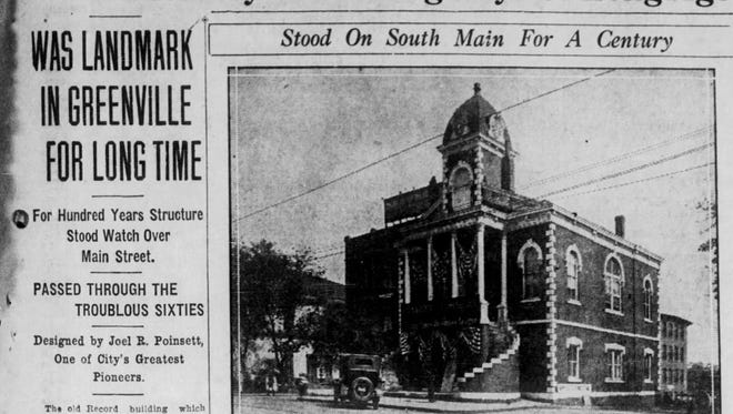 A clipping from  The Greenville News on Sept. 28, 1924.