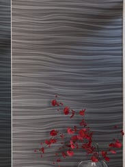 Interesting textured wall covering in varying shades