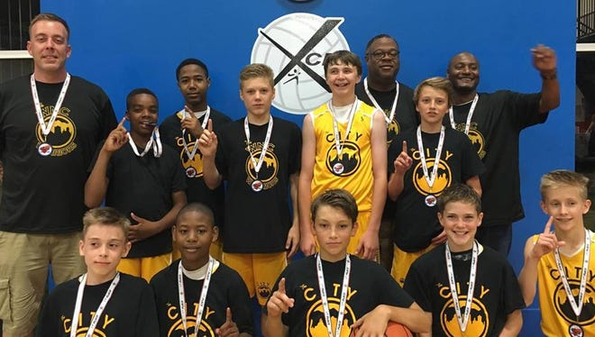 The Western North Carolina Warriors sixth-grade basketball team won its age division in the Super Tipoff Invitational held the weekend of June 18-19 at the Xcel Sports Complex.