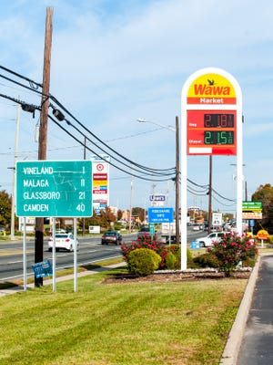 Wawa gas station located at 2105 N 2nd St in Millville on Tuesday, November 1.