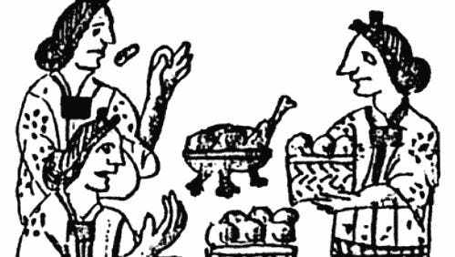 Food folklore strongly indicates that the Aztecs invented mole and often used it as a sauce for turkey.