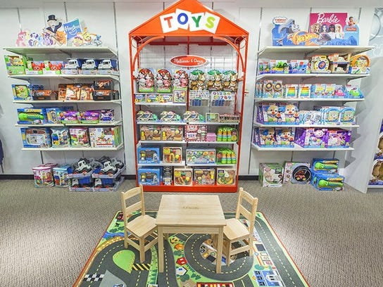 A toy shop in a J.C. Penney store