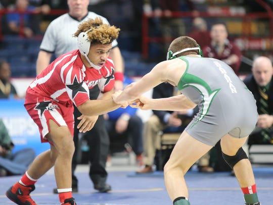 Penfield's Frankie Gissendanner wrestles 145-pound