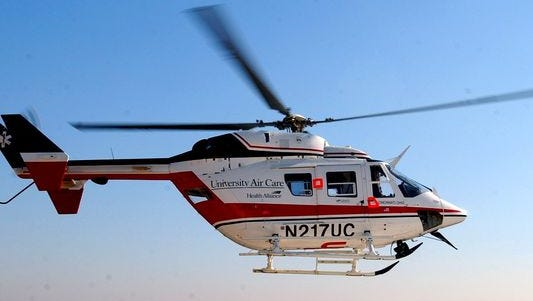 AirCare responded reports of a two-vehicle crash in Sharonville Sunday afternoon.