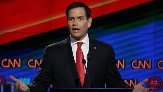 Marco Rubio at the debate in Miami on March 10, 2016.