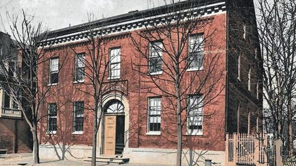 The 1780s/1790s; York Academy, later York County Academy, went up in 1787 and came down late in the 20th century when York's downtown was on a crusade for parking space. Suburban shopping was challenging York's longtime retail dominance. Today, its location remains a parking lot, across North Beaver Street from  St. John's Episcopal Church.