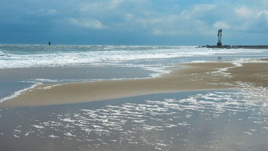 The beach at Ocean City has been nourished through the years by pumping sand from the ocean floor back to the beach.