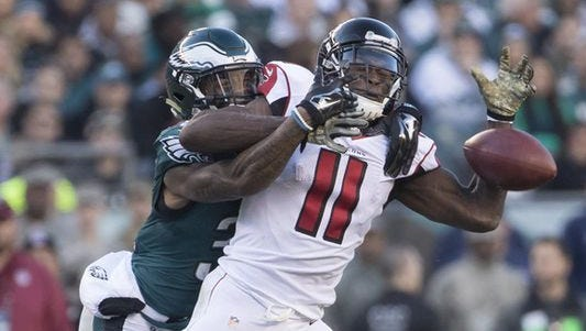 The Eagles managed to hold Falcons wide receiver Julio Jones in check in their 24-15 win over Atlanta on Nov. 13, 2016.
