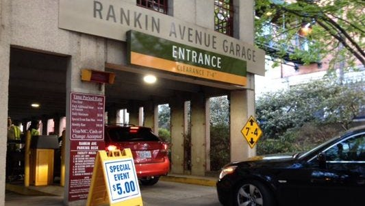 A reader raises concerns about a $9 event parking fee at the Rankin Street parking garage on a recent Saturday night.