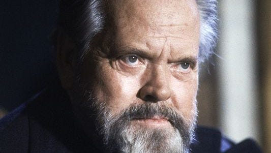 Actor and movie director Orson Welles during a press conference in Paris on Feb. 22, 1982.