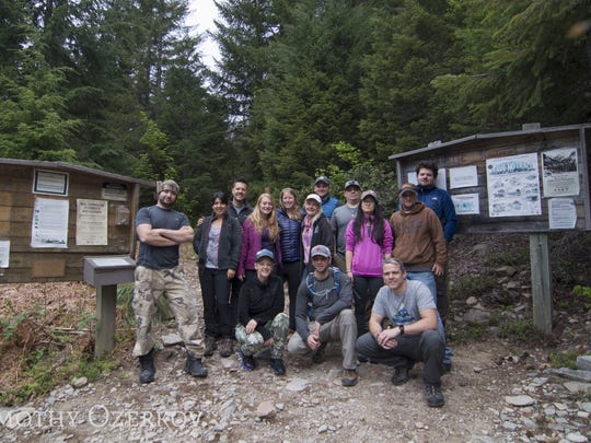 A group from all over the West came together to help Alison Fountain search for a tent she left behind on Mount Jefferson after a tragic accident took her husband Tommy's life.