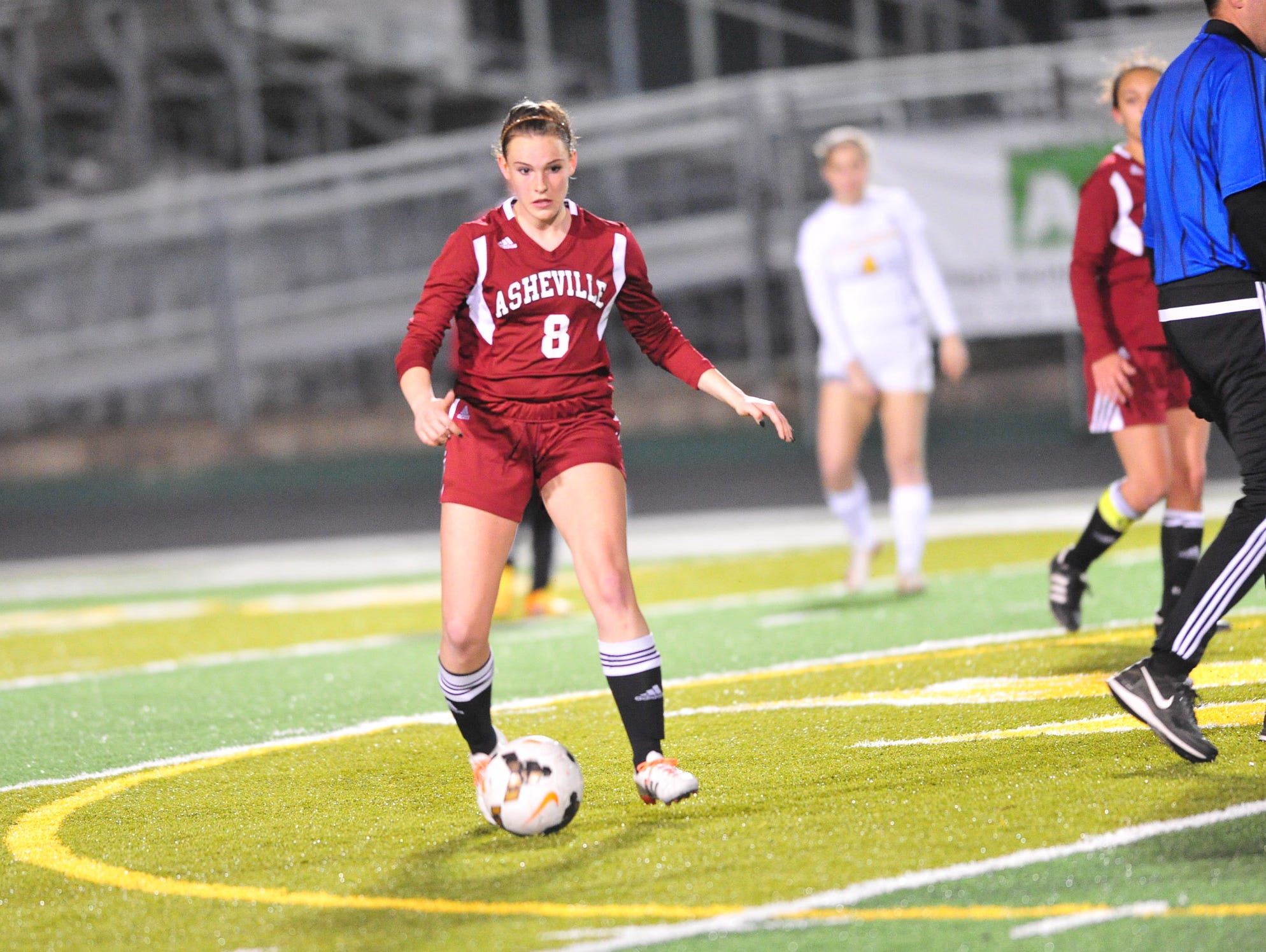 Kenzie McDowell scored the tying goal for Asheville High in Monday's 2-2 game at Reynolds.