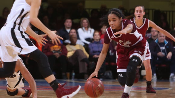 Ossining defeated Alberts Magnus 80-77 to win the Section 1 Class AA championship at the Westchester County Center in White Plains March 5, 2017.